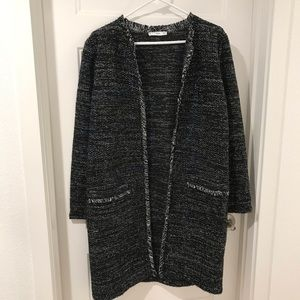 MANGO Tweed Sweater Jacket